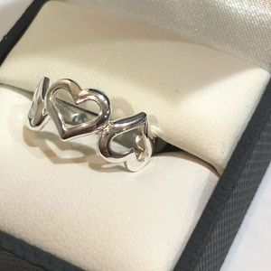 Jewelry - Silver 3Hearts Ring NEW Size 7